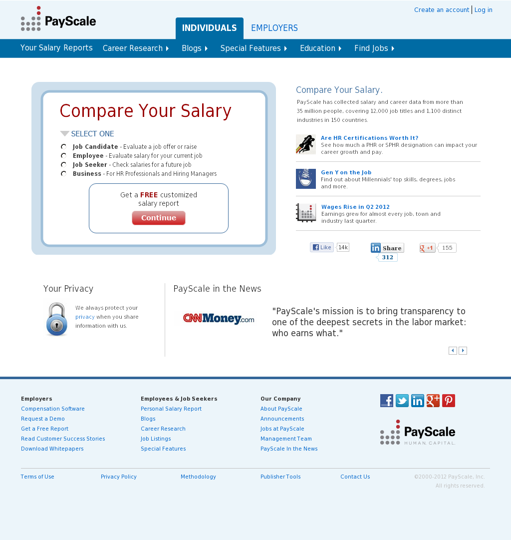 Payscale competitors revenue and employees company profile on owler payscale website history 1betcityfo Choice Image