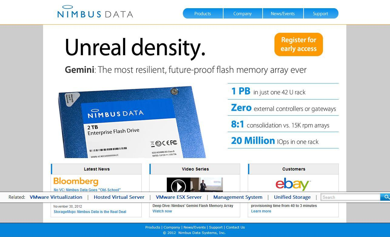 bas prix b2162 0e2a7 Nimbus Data Competitors, Revenue and Employees - Owler ...