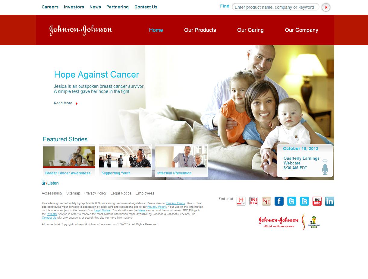 johnson johnson company political environment At johnson controls, we've been dedicated to protecting the environment since our invention of the electric thermostat in 1885, which provided a fundamental shift in the energy efficiency of buildings.
