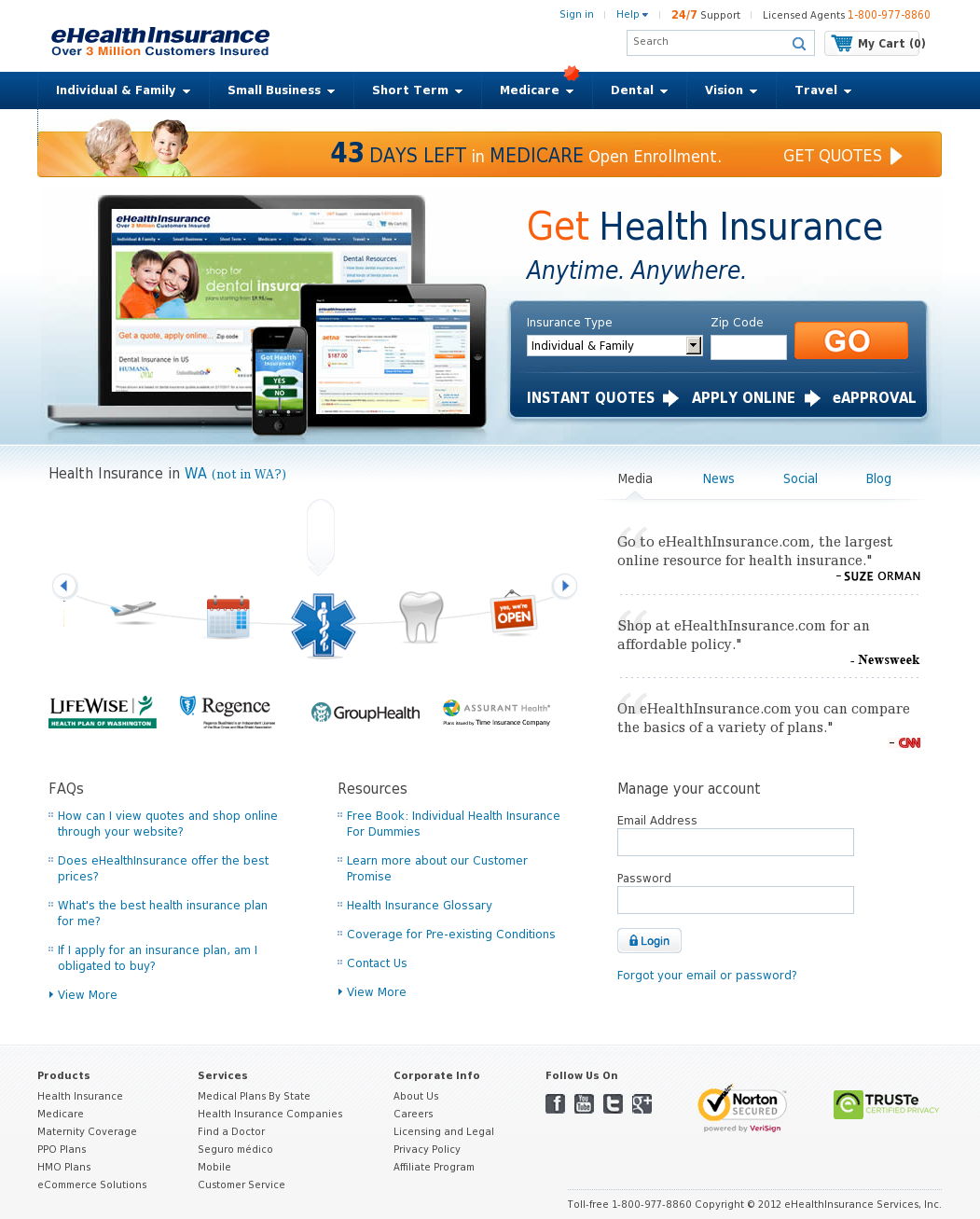 Ehealth Competitors Revenue And Employees Owler Company Profile