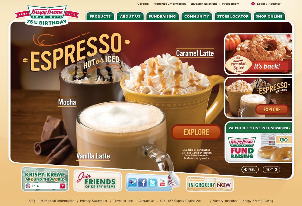 a company profile and history of krispy kreme Krispy kreme case analysis  krispy kreme acquired a company in 2003 that by the end of fiscal year  since krispy kreme has a long history of using this.