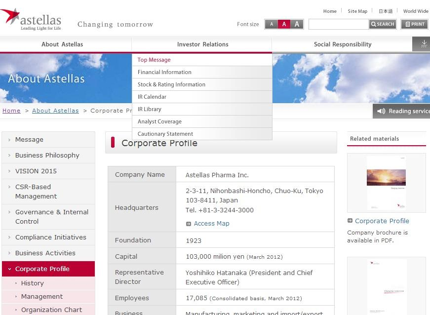 Astellas Pharma Competitors, Revenue and Employees - Owler