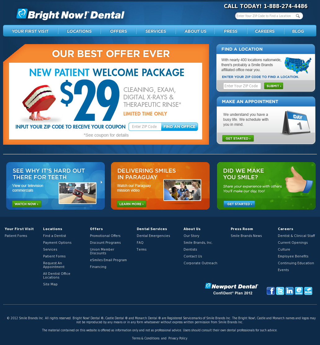 Bright Now! Dental Competitors, Revenue and Employees