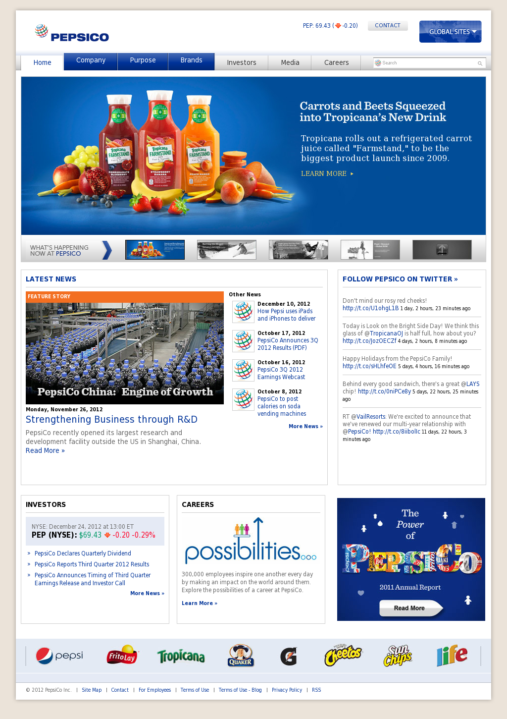 PepsiCo Competitors, Revenue and Employees - Owler Company