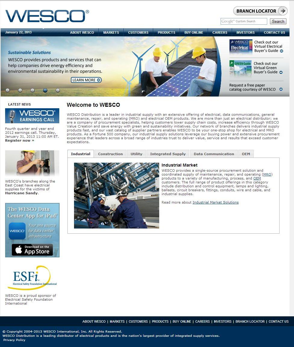 wesco distribution Find wesco distribution in biddeford with address, phone number from yahoo us local includes wesco distribution reviews, maps & directions to wesco distribution in.