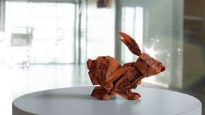REQUEST] The squirrel from the Voya commercial (link inside) : origami | 166x295